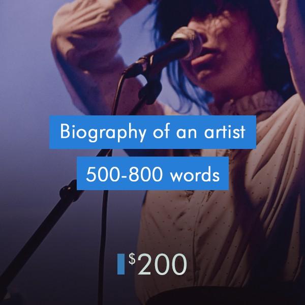 music-publicity-Biography-of-an-artist