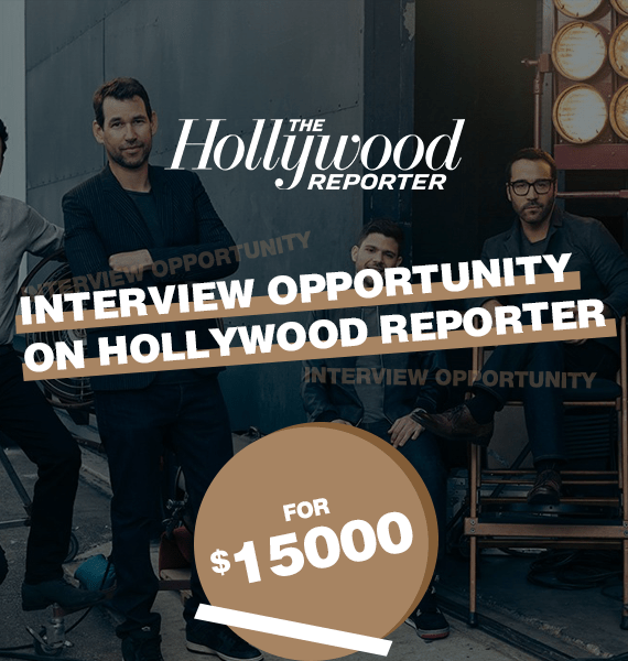 Interview Opportunity on Hollywood Reporter - PRandPromo
