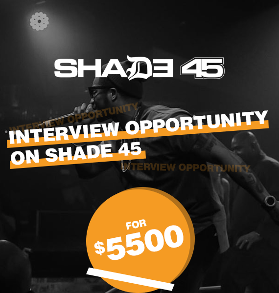 Interview Opportunity on Shade 45 - PRandPromo