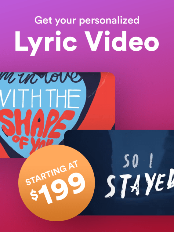 Lyric Video Offer for music artists pr and promo - prandpromo