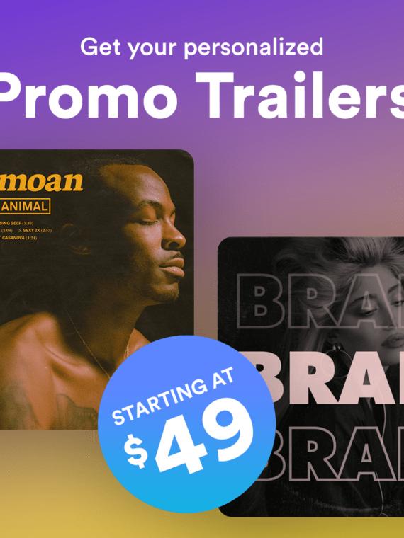 Promo Trailer Offer for music artists pr and promo - prandpromo