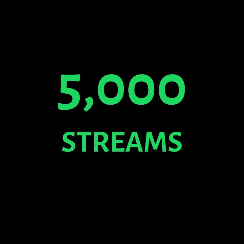 5,000 Streams spotify prandpromo
